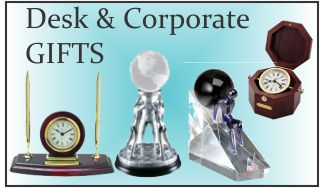 Plaques and corporate desk accessories